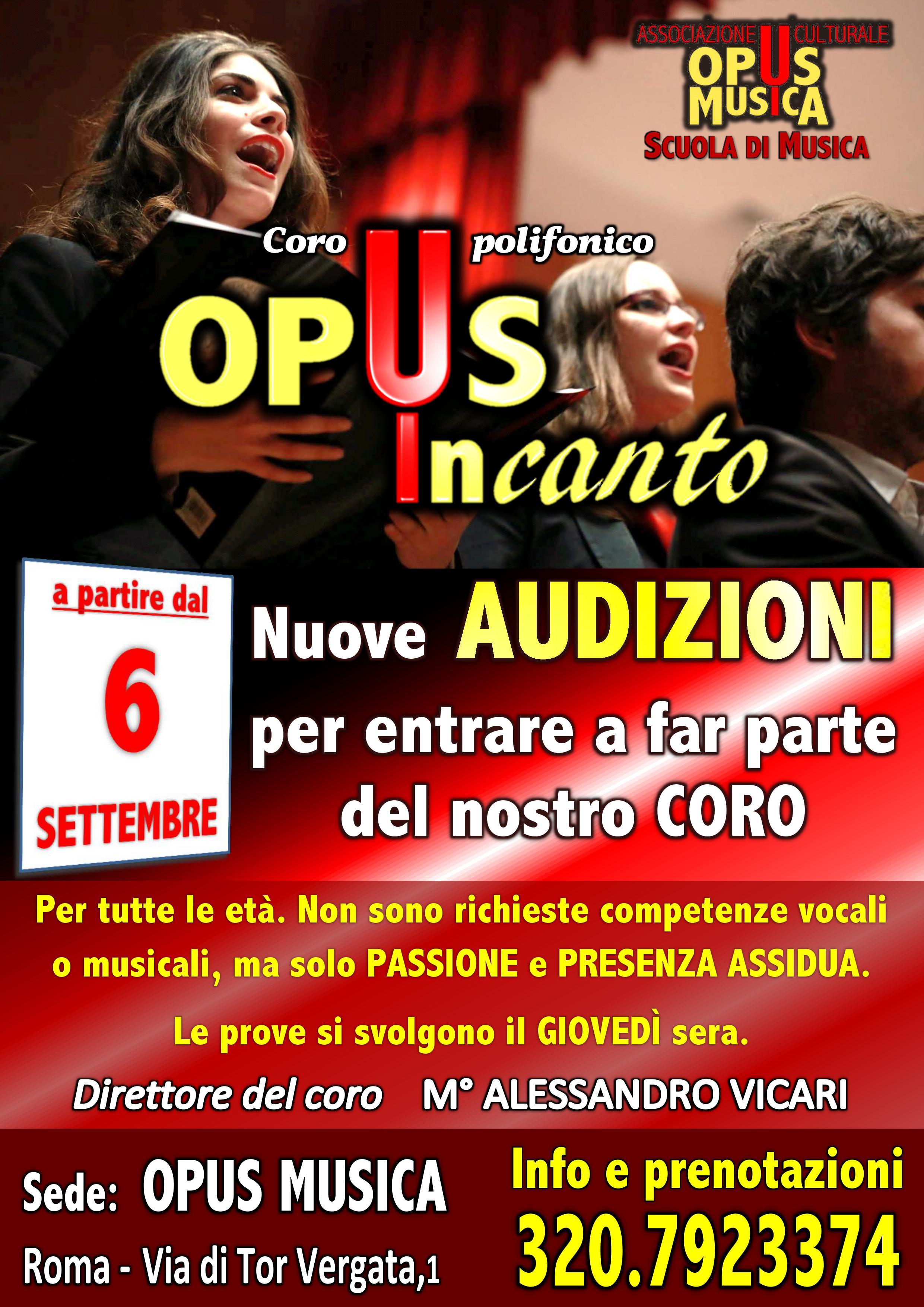 Audizioni CORO