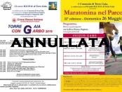 locandina annullamento maratona